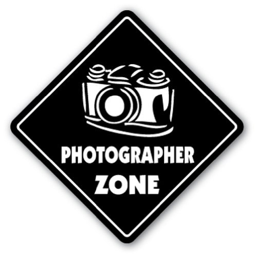 Photographer Zone Sign Novelty Camera Lens Film Supplies Solution