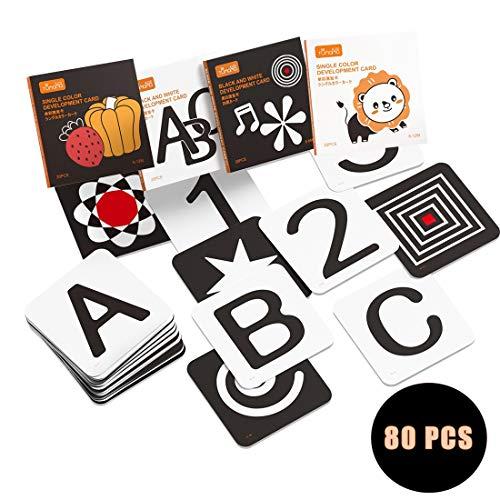 tumama Hoog contrast zwart-wit baby flash kaarten,peuter baby flash kaart met dieren fruit vorm letter alfabet aantal…