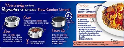 Reynolds Kitchens Small Size Slow Cooker Liners – 10.5×17.5 , 5 Count