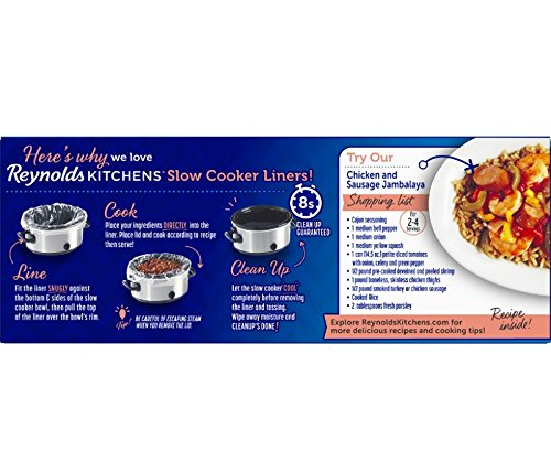 Reynolds Kitchens Premium Small Slow Cooker Liners, 10.5x17.5 Inch, 5 Count 2