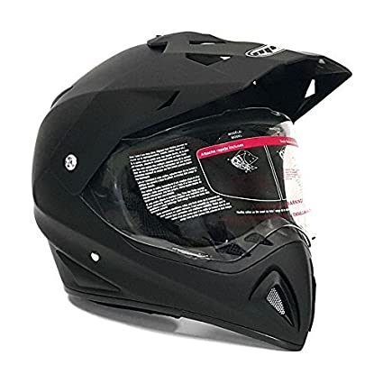 Dirt Bike Helmet With Visor >> Amazon Com Motocross Full Face Helmet Dual Sport Off Road
