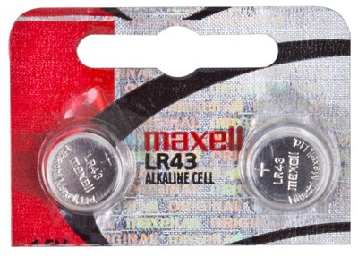 Maxell Battery LR 43 1.5, 2 pack