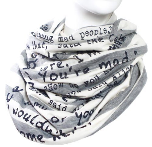 Alice in Wonderland Book Scarf
