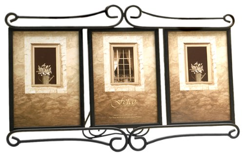 amazoncom fetco home dcor alton triple frame bronze luxury frames