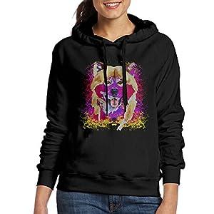 Corelosa Watercolor Shiba Inu Dog Women's Hooded Sweatshirt