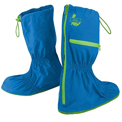 Seal Shoe Covers- A Durable, Lightweight and Fashionable Alternative to Rain Boots- Women's Water Resistant Shoe and Boot Covers- (Blue/Medium)