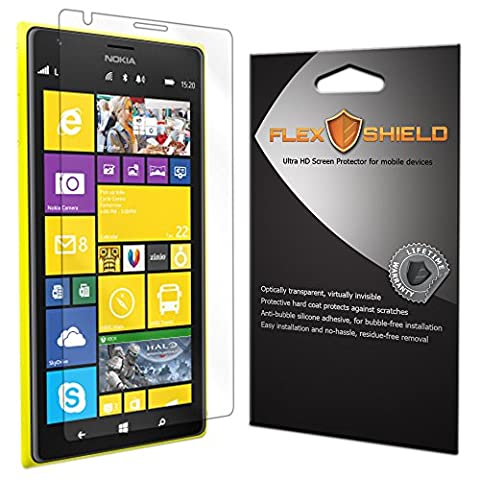 Nokia Lumia 1520 Screen Protector [5-Pack], Flex Shield - Ultra Clear Japanese PET Film with Lifetime Warranty - Bubble-Free HD Clarity with Anti-Fingerprint & Scratch (Nokia Lumia 1520 Belkin Case)