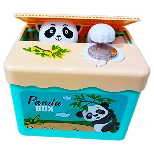 PERFECTTOY Automated Blue Sky Panda Stealing Coin Piggy Banks for Kids Savings Panda Box Children Storage Lovely by PERFECTTOY