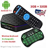 T95Z Plus Android 7.1 TV BOX Amlogic S912 Octa Core 3GB/32GB Dual Band Wifi 2.4GHz/5.0GHz 4K HD TV BOX with Backlit Mini Wireless Keyboard