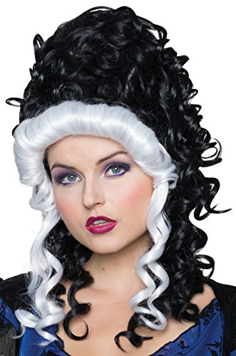 Victorian Lady Wig - Rubie's Women's Victorian Wig, Black/White, One Size