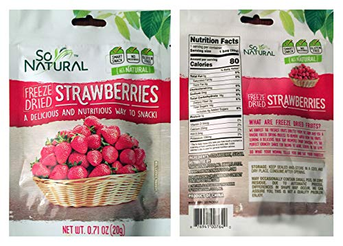 - So Natural Freeze Dried Strawberries (Strawberry, 6 Pack)