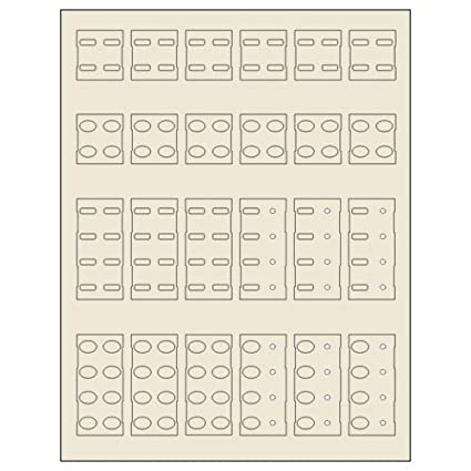Simply Automated ZLK-01S-W Label Kit for 4-Button 4-Lightpipe Faceplate White