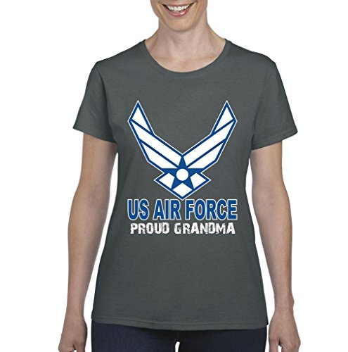 Xekia US Air Force Proud Grandma Women's T-shirt Tee Clothes Medium Charcoal