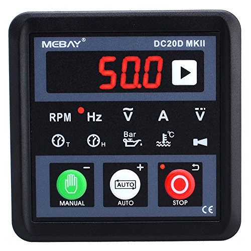 YOKDEN DC20D-MK2 Diesel/Gasonline Engine Generator Control Module Controller, Manual/Remote Auto Start, DC 8-36V with RS485 Communication Port