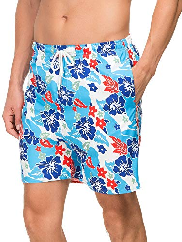 583ef65870 Janmid Mens Slim Fit Quick Dry Short Swim Trunks with Mesh Lining ...