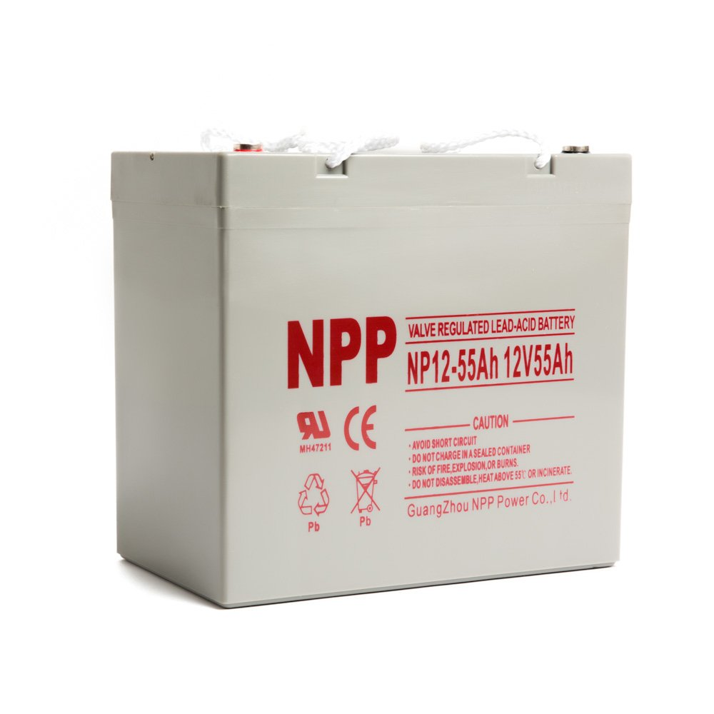 NPP 12V 55 Amp 55Ah Rechargeable AGM SLA Battery With Button Style Terminals by NPP (Image #2)