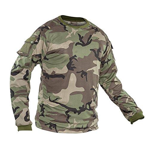Valken Tactical KILO Combat Shirt, Woodland, (Paintball Jerseys Pants)
