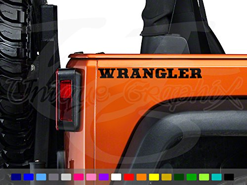 Jeep Wrangler YJ CJ Rear Side Decals 1 Pair (Jeep Cj Tub)