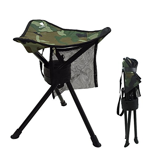 Geertop Folding Tripod Swivel Chair Full 360 Degree Rotation Heavy Duty Camp Stool for Camping Fishing Hiking Hunting Outdoor by Geertop