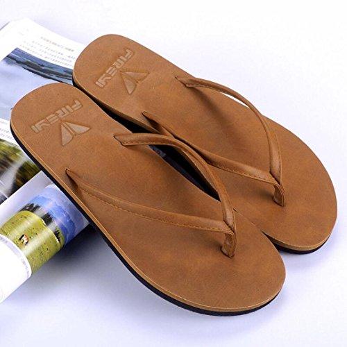 Uomo Unisex Spiaggia Sintetica Leggero Tempo Sandali Morbido in per Scarpe da Pantofole da SOMESUN Donna Traspirante Massaggio Marrone Il Estate da Sandali Libero Pelle Pantofole Infradito gq68wRnxtP