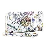 Women Fashion Floral Vegan Leather Wallet Purse for Women Credit Case Wristlet Wallet