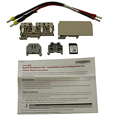 Solaredge Wire Kit For Rapid Shutdown Compliance 3 Phase Se9kus Inverter 5 Pack With 1 Memory Card- Se1000-rsd-s2