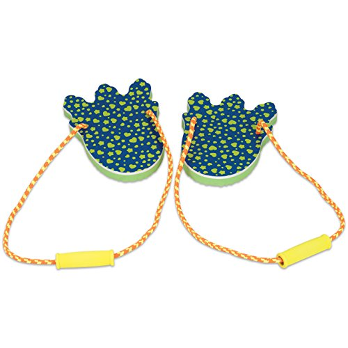 Bits And Pieces   Dinosaur Footprints Stomper Toy   Dino Monster Steppers For Kids With Comfortable Foam Handles