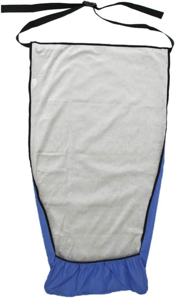 Bonarty Manta Caliente de Silla de Ruedas, do Correas de Gancho y Bucle, una a Cada Lado, Sujetan Firmemente la Manta a Cualquier Silla - Azul M