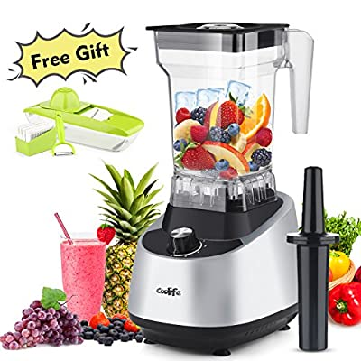 Professional Commercial Blender Coolife with 68oz BPA-Free FDA Tritan jar Smoothie blender 30,000 RPM make cell broken nutrition fruit Juice, 1500W Electric High-Speed Mixer for Ice Shakes Smoothies