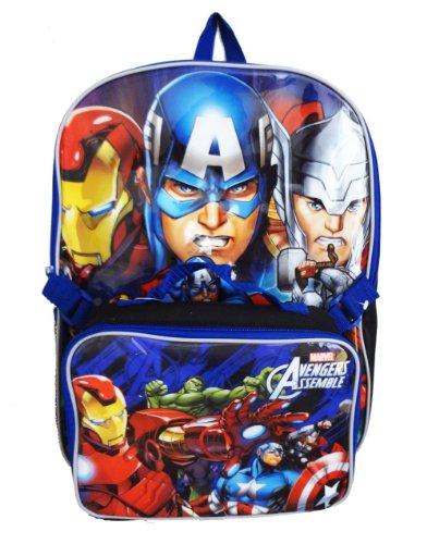 [해외]Backpack - Marvel - Avengers 16 wLunch Kit New Large School Bag 287960 / Backpack - Marvel - Avengers 16 wLunch Kit New Large School Bag 287960
