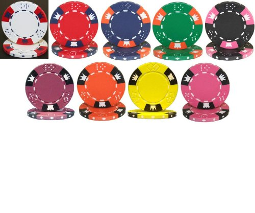 PS Dice & Crown 14gm Clay Composite Poker Chip Sample Set - 9 New Chips!