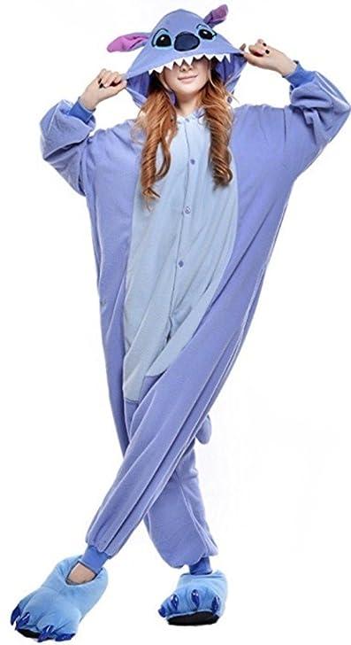 Image du produit Renee Adulte Unisexe Anime Animal Costume Cosplay Combinaison Pyjama Outfit Nuit Vetements Onesie Fleece Halloween Costume Soiree de Deguisements