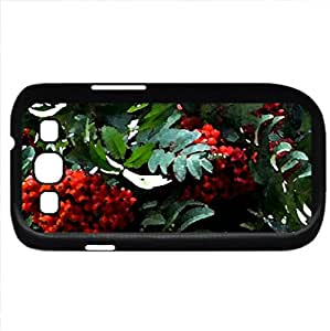 the reddest berries - Watercolor style - Case Cover For Samsung Galaxy S3 i9300 (Black)
