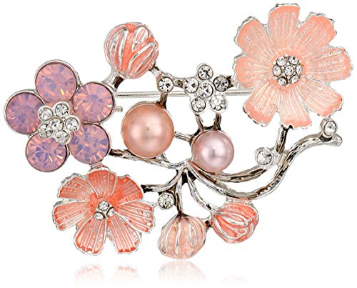 Napier Women's Multi Pearl Flower Brooches and - Pin Brooch Napier