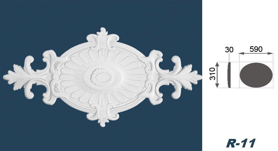 1 Rosette rosace de mur de plafond d/écor int/érieur moulures polystyr/ène /ø59 r-11//31 cm