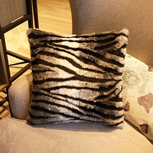 B 45X45cm Cozy Home Seat Seat Sofa Decor Coussin velours côtelé voitureré solide Taie d'oreiller de maison élégante idéale pour canapé, chambre et salon Housse D'oreiller (Couleur   B, taille   45X45cm)