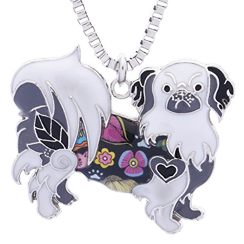Luckeyui Pekingese Pendants Necklace for Women Birthday Gift Handmade Cute Dog Collection (Pekingese Jewelry)