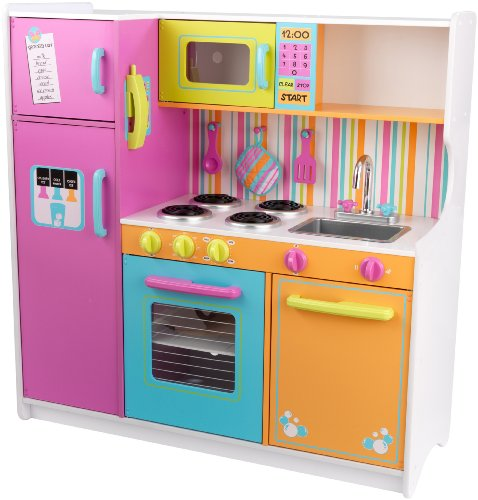 KidKraft Deluxe Big & Bright Kitchen is a fun choice for the best play kitchens for kids