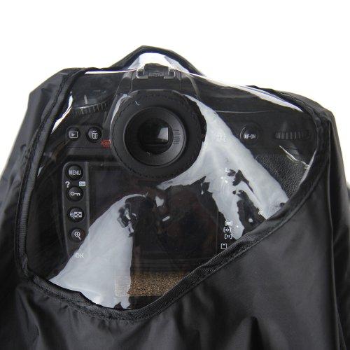 Profi Regenschutzhaube JJC-RI9S für Canon und Nikon (nicht D2, D3, D700) Spiegelreflexkameras mit 3 Augenmuscheln - für CANON EF 28-300mm f/3.5-5.6L, EF 70-200mm f/2.8L IS (II),EF 100-400mm f/4.5-5.6L, EF 300mm f/4L,NIKON AF-S Nikkor 300mm f/4D IF-ED,AF VR Zoom-Nikkor 80-400mm f/4.5-5.6D ED, AF Zoom-Nikkor 80-200mm f/2.8D ED, AF-S NIKKOR 70-200mm f/2.8G ED VR II