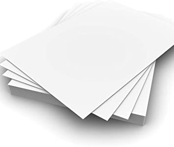 100 Hojas A4 Blancas Lisas Gruesas Craft Tarjeta 250gsm Tarjeta