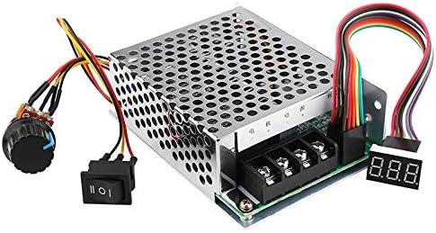 Regulador de velocidad del motor DC 10 – 50 V/60 A/3000 W, controlador de velocidad del motor DC PWM con pantalla digital, reversible, ajustable para módulo de controlador de motor DC 12 V 24 V 36 V