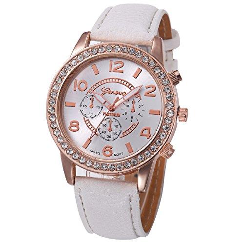 2019 Spring Deals! Fashion Women's Watch Geneva Luxury Diamond Analog Leather Quartz Wrist Watches,Outsta GIF Hot! White
