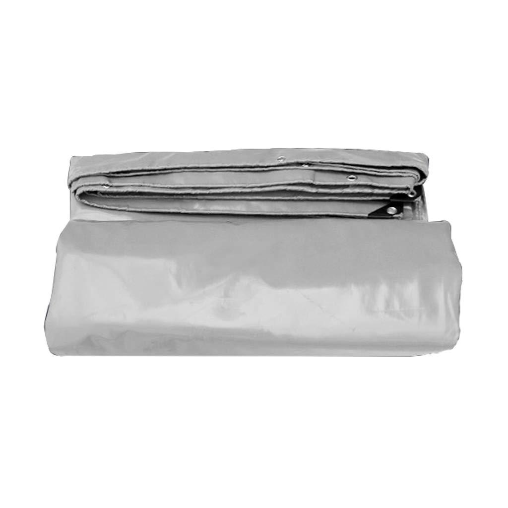 ターポリン、屋外多機能複数のサイズ、耐火防火&紫外線抵抗性、灰色がかった白 (サイズ さいず : 3m*3m) 3m*3m  B07JV9XK9Z