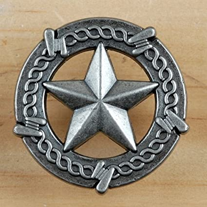 Set Of 6 Barbed Wire Lone Star Drawer Pulls Cabinet Knobs Western Southwest  Rustic Texas (