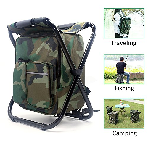 Zology-Folding-Camping-Chair-Stool-Backpack-with-Cooler-Insulated-Picnic-Bag-Hiking-Camouflage-Seat-Table-Bag-Camping-Gear-for-Outdoor-Indoor-Fishing-Travel-Beach-BBQ