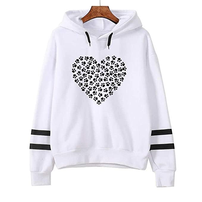 Mujer Sudaderas, ASHOP Blouses Campesinas Oversize Sweatshirt Sudaderas para Mujer Top Deporte (Blanco,