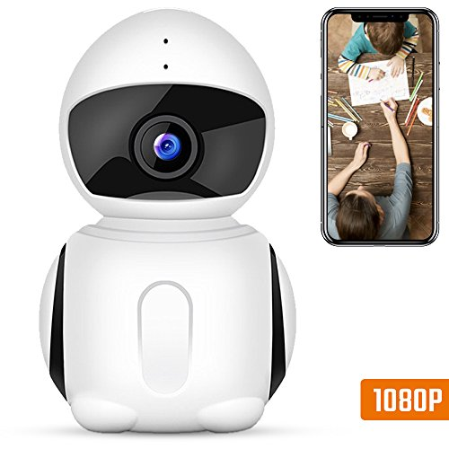Wireless Security Camera, IKARE 1080P Indoor Home Camera for Baby, Surveillance Remote Monitor with Night Vision, Motion Detection, Pet Cam with iOS/Android App V380 Pro, 2-Way Audio, Support Micro by AUTOGEN