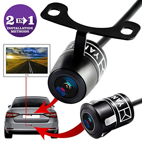 Backup Camera - Rear View Camera - High Definition - Wide Viewing Angle - Waterproof Backup System - Universal Camera - Color CMOS - 2 In 1 Instalation Option - - Frame Rocker Spot