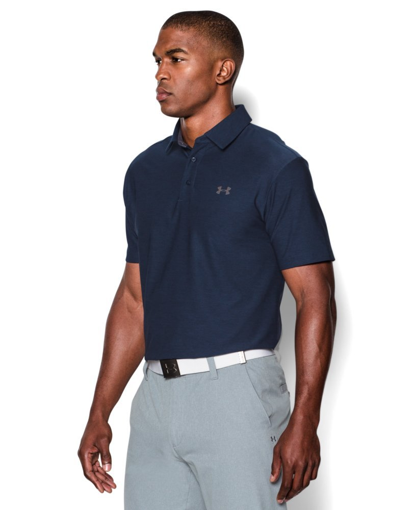 Under Armour Men's Playoff Polo, Academy (408)/Graphite, Small by Under Armour (Image #3)