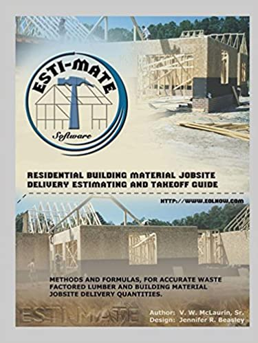 Residential building material jobsite delivery estimating and residential building material jobsite delivery estimating and takeoff guide sr vw mclaurin 9781553955269 amazon books malvernweather Gallery